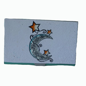 business card case- moon & stars