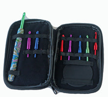 Load image into Gallery viewer, Crochet Hook Set-Interchangeable- Purple & Green Marble