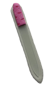 Crystal Nail File-Large-Pink with Red Dots