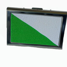 Load image into Gallery viewer, Wallet-Metal Wallet- Green & White Franco Colors
