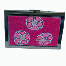 Charger l'image dans la galerie, Wallet-Metal Wallet- Pink with Pink Flowers