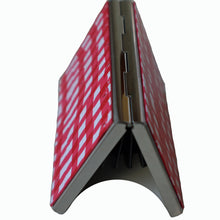 Load image into Gallery viewer, Wallet-Metal Wallet- Red & White Checker