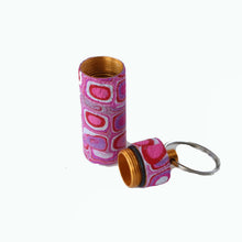 Load image into Gallery viewer, Key Chain Pill Bottle- Pink Retro