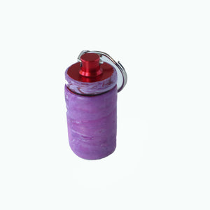 Key Chain Pill Bottle- Purple
