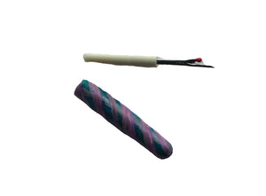 Seam Ripper-2 piece-Green Purple Stripes