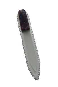 Crystal Nail File-Small-Purple Pink Swirl