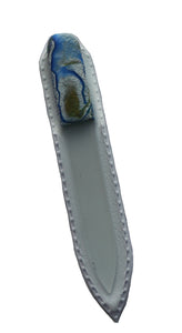 Crystal Nail File-Small-Blue White Swirl