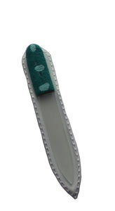 Crystal Nail File-Small-Turquoise with Blue Dots