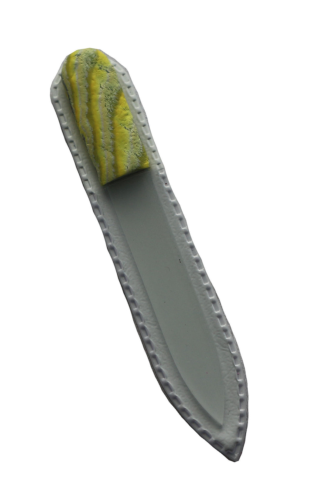 Crystal Nail File-Small-Yellow Green Stripes