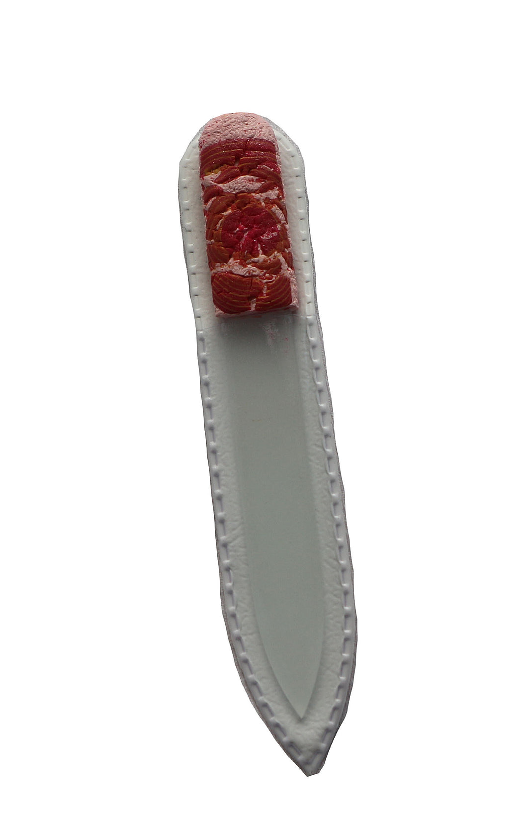 Crystal Nail File-Small-Pink Red Crackle