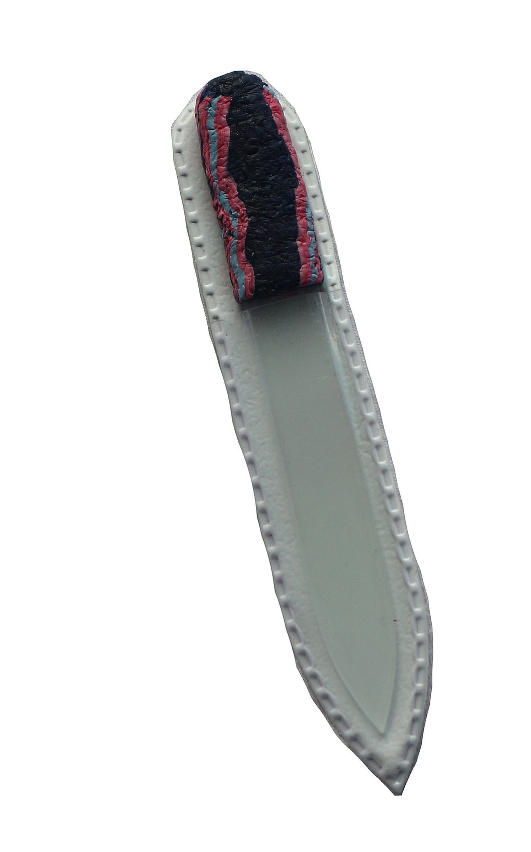 Crystal Nail File-Small- Pink & Purple Stripes