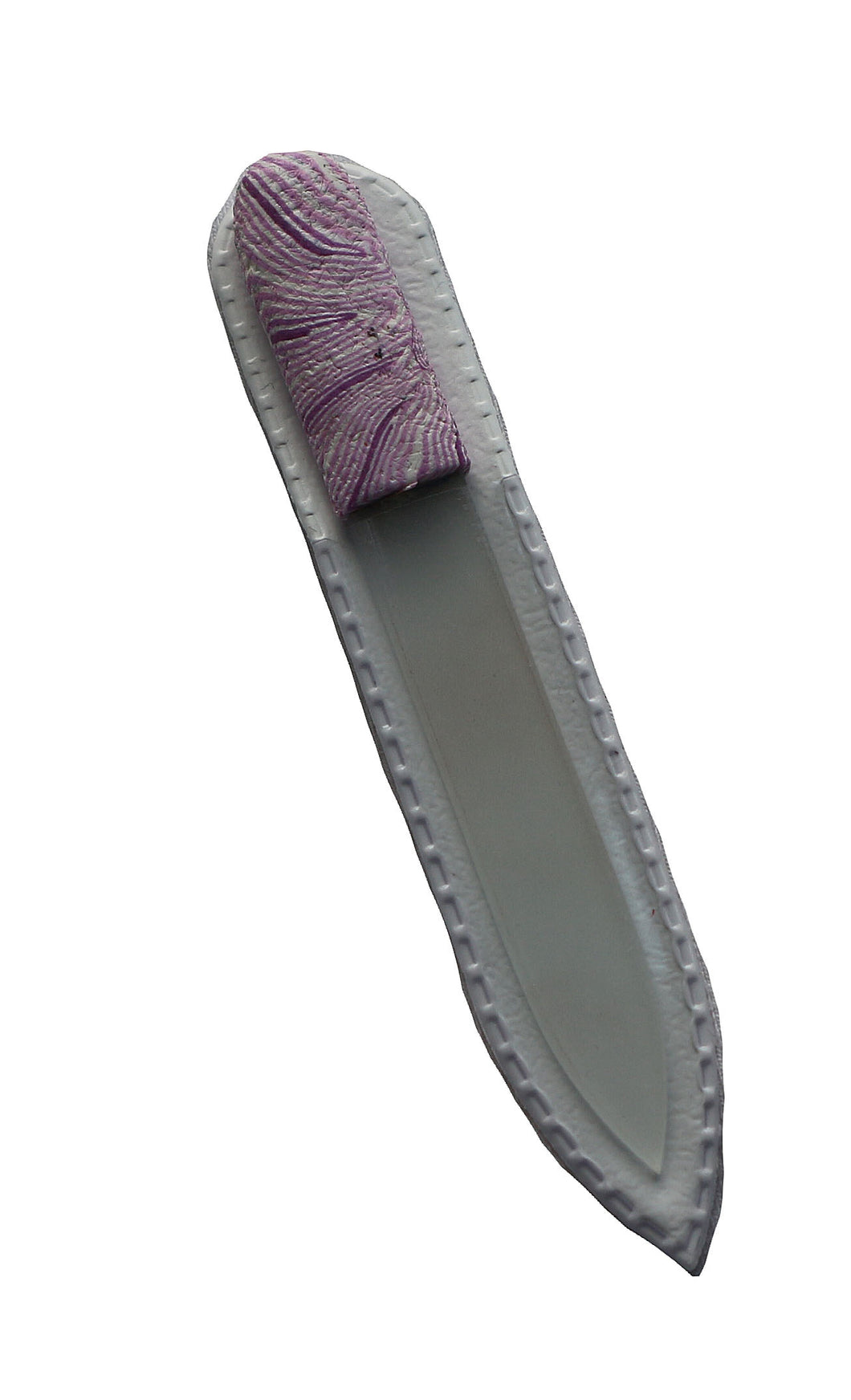 Crystal Nail File-Small-Purple White Stripes
