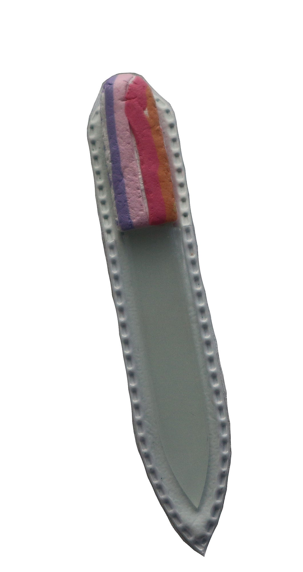Crystal Nail File-Small-Rainbow Stripe