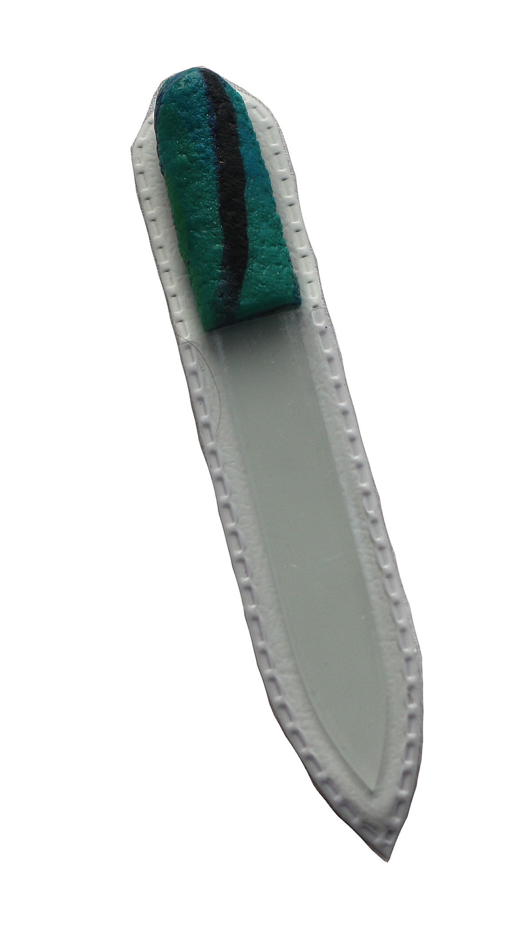 Crystal Nail File-Small-Turquoise & Black Stripe