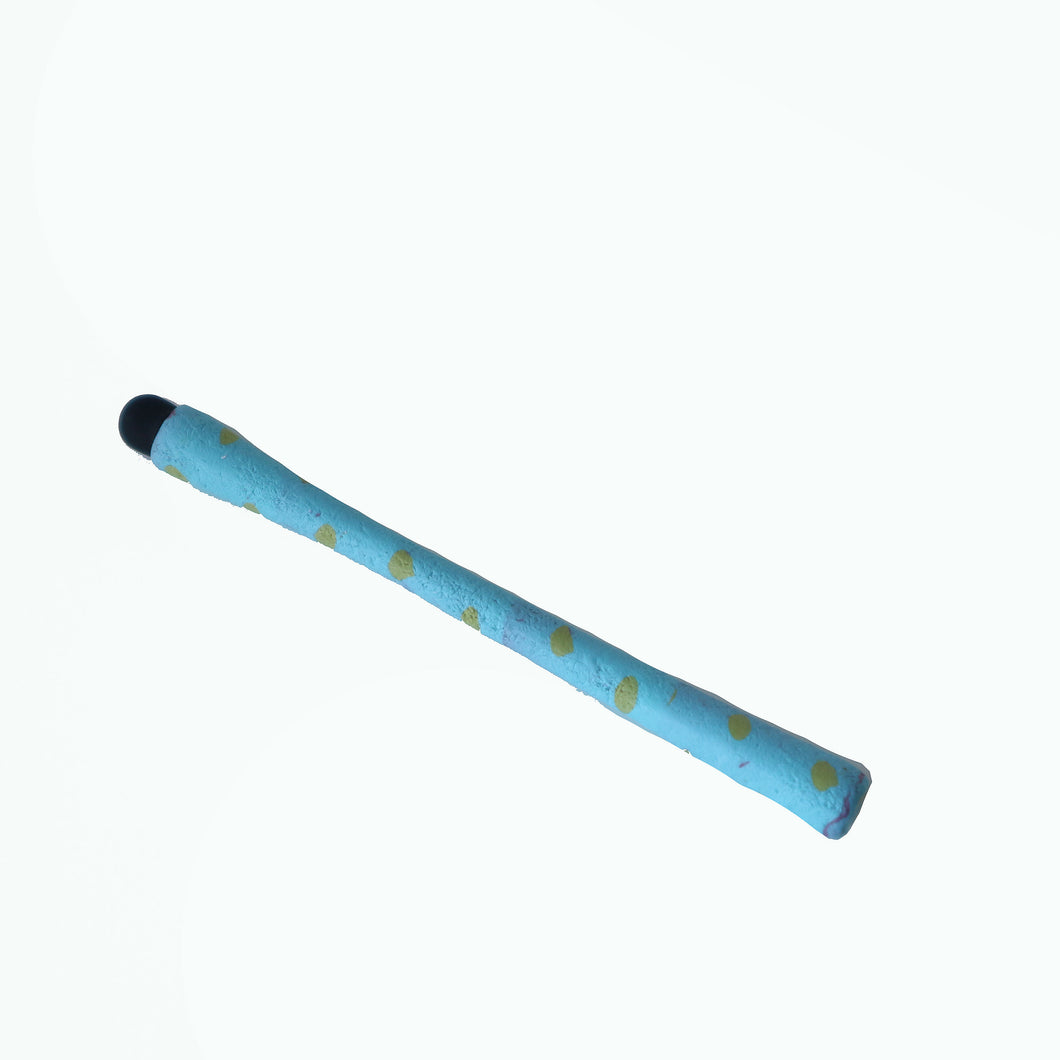 Phone Stylus Turquoise with Yellow Dots, Cell Stylus Pen, Tablet Stylus Pen