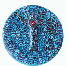 Load image into Gallery viewer, Round Tin Box- Turquoise Totem