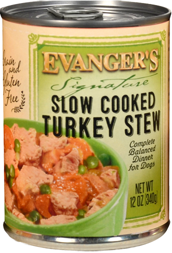 Evangers Signature Series Slow Cooked Turkey Stew Canned Dog Food