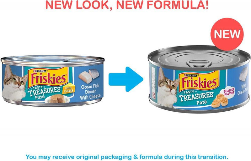 Friskies Tasty Treasures Pate Ocean Fish & Scallop Canned Cat Food