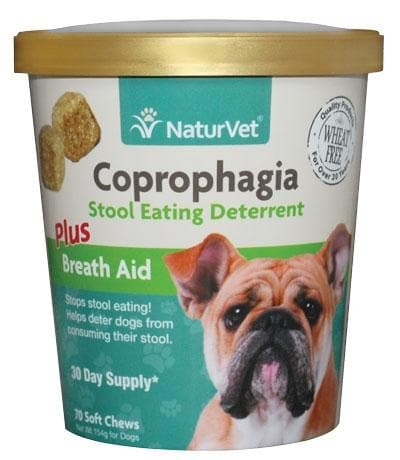 NaturVet Coprophagia plus Breath Aid Functional Soft Chews for Dogs