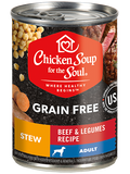 Chicken Soup For The Soul Grain Free Beef and Legume Stew Canned Dog Food