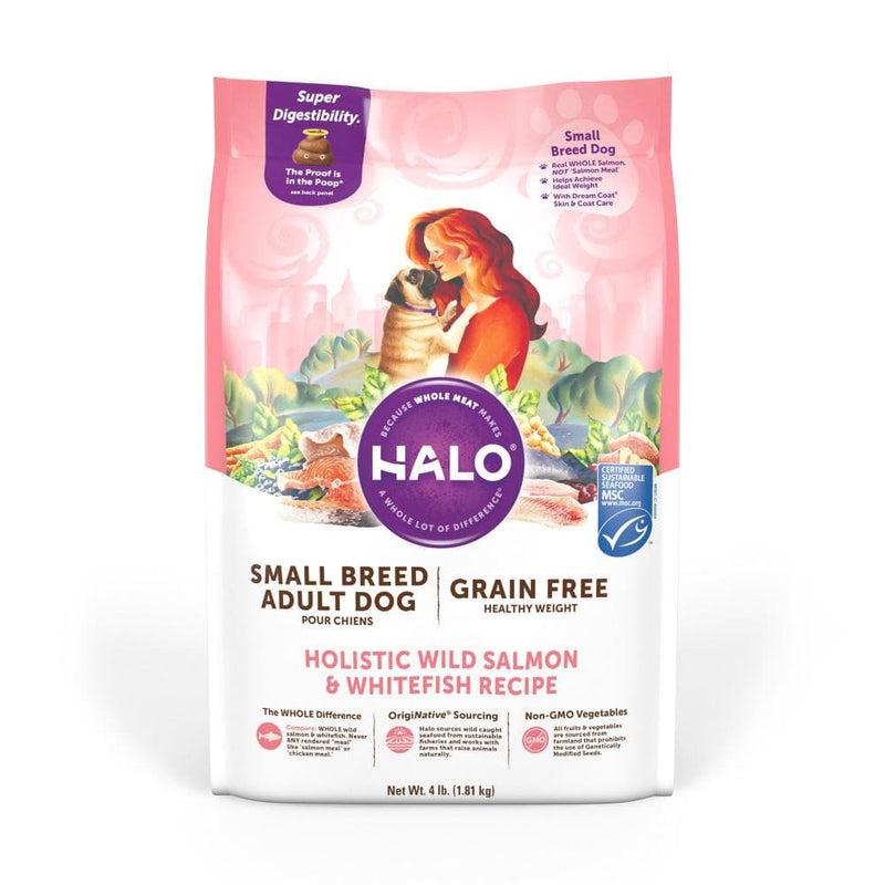 Halo Small Breed Holistic Grain Free Healthy Weight Wild Salmon & Whitefish Dry Dog Food