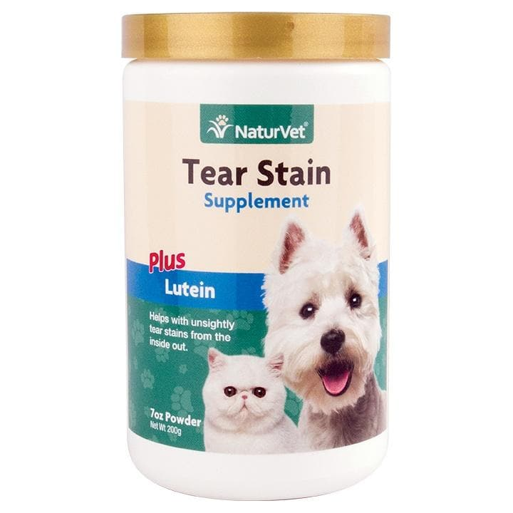 NaturVet Tear Stain Supplement Powder for Dogs and Cats