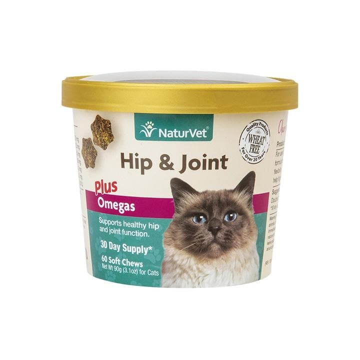 NaturVet Hip & Joint Plus Omega Soft Chews for Cats