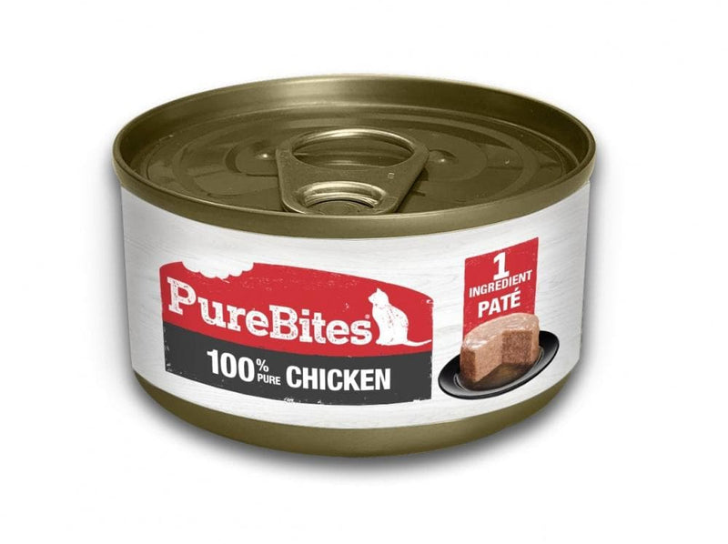 PureBites 100% Pure Chicken Pate Cat Food Topper Treat