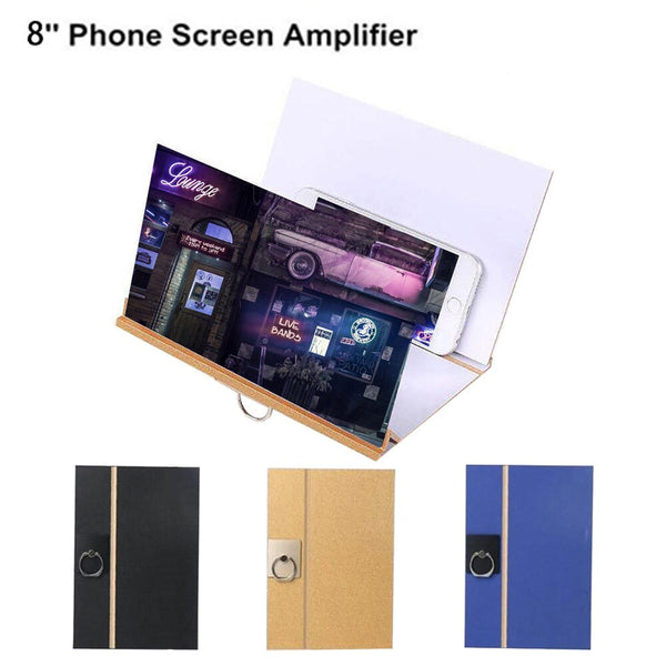 3D Stereoscopic Amplifying Phone Screen Magnifier