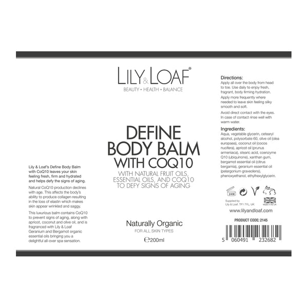 Define Body Balm with CoQ10 - Organic 200ml