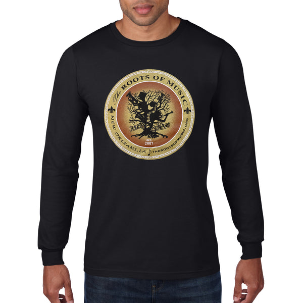 The Roots Of Music Long Sleeve Logo Tee, Black