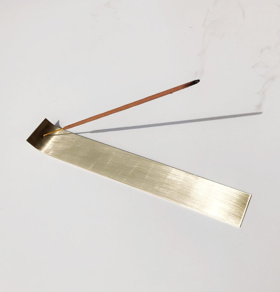 Golden Brass Incense Holder
