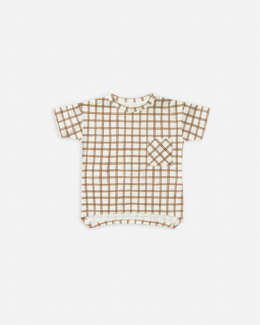 Raw Edge Tee - BRONZE GRID