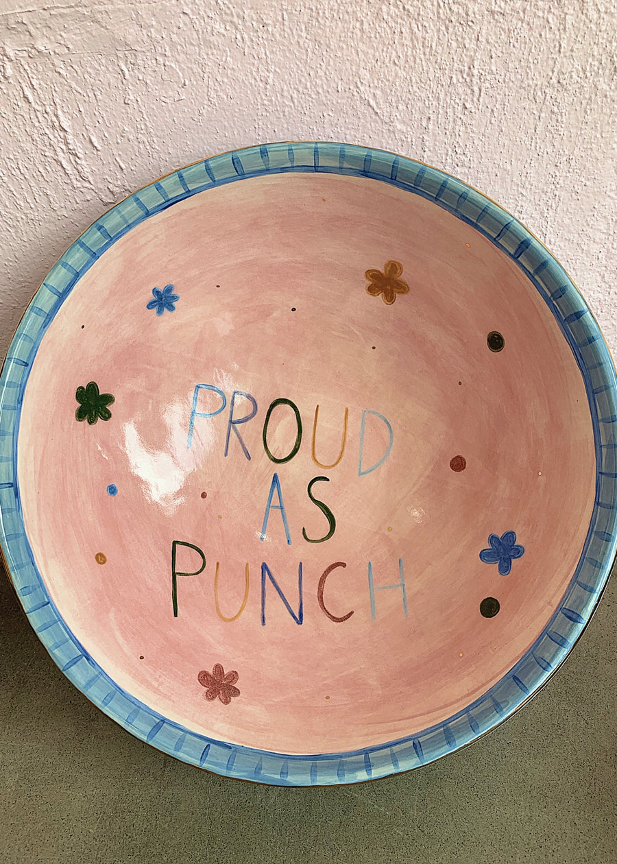 Proud as Punch Daisies Ceramic Bowl - Handmade by Carla Dinnage