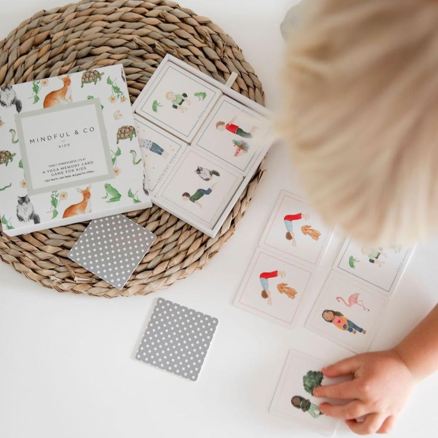 Yoga Memory Card Game