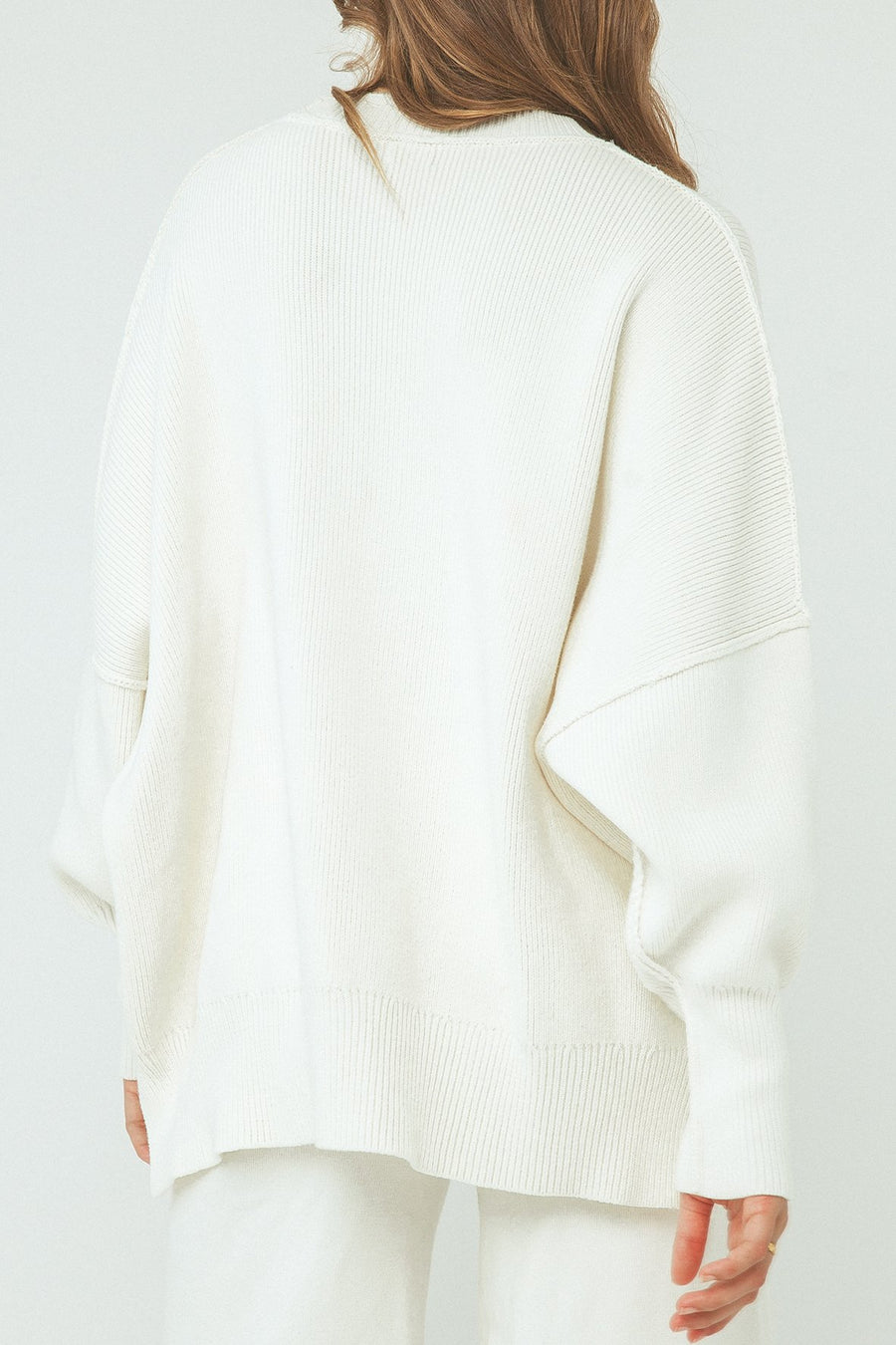 Harper Organic Knit Sweater - Cream