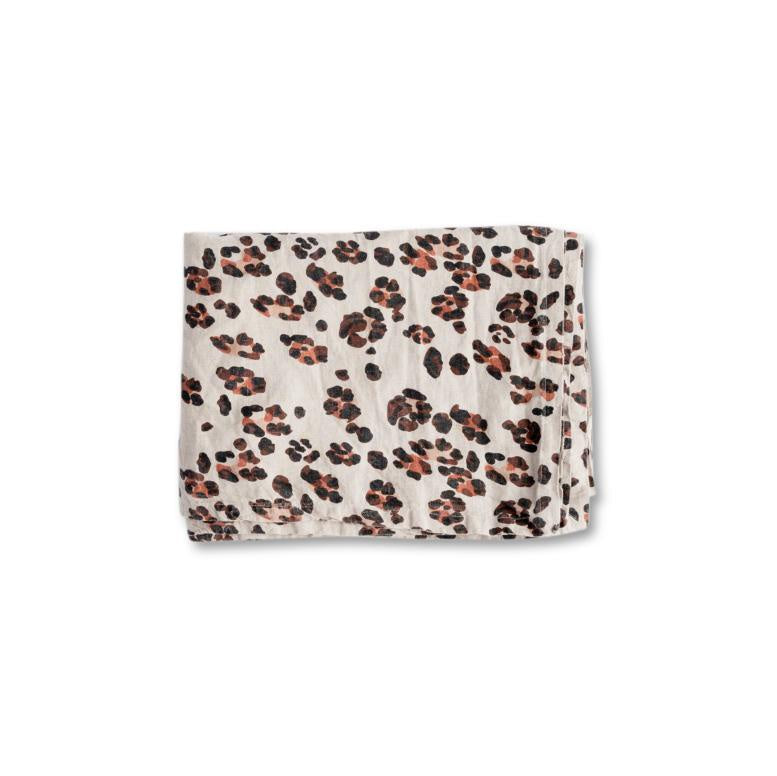 Linen Tablecloth - Leopard