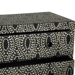 Bone Inlay 2-Drawer Chest - Classic Vine