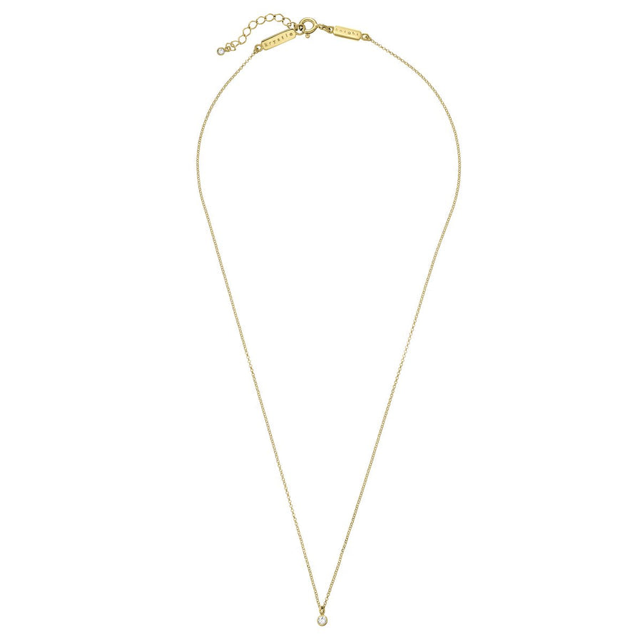 Horizon Fine Chain Necklace - White Sapphires - Gold
