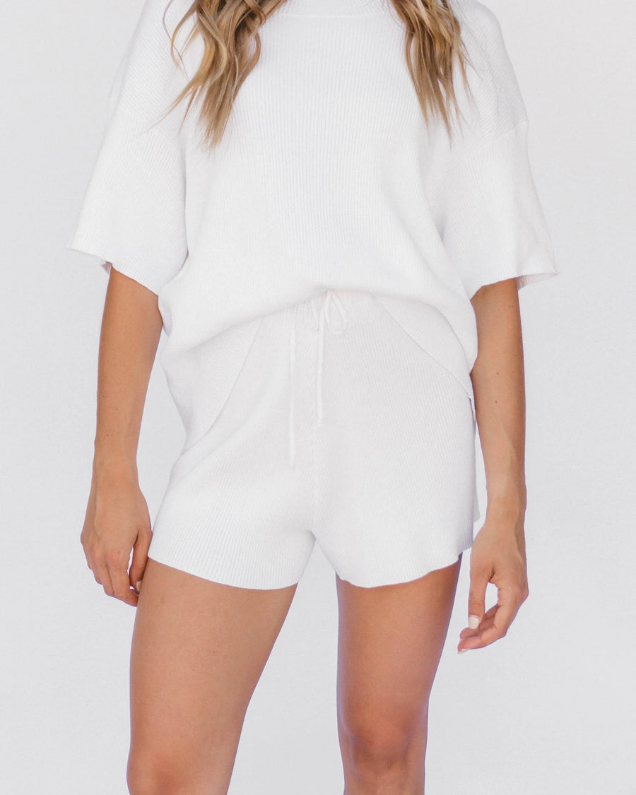 Alex Knit Short - White