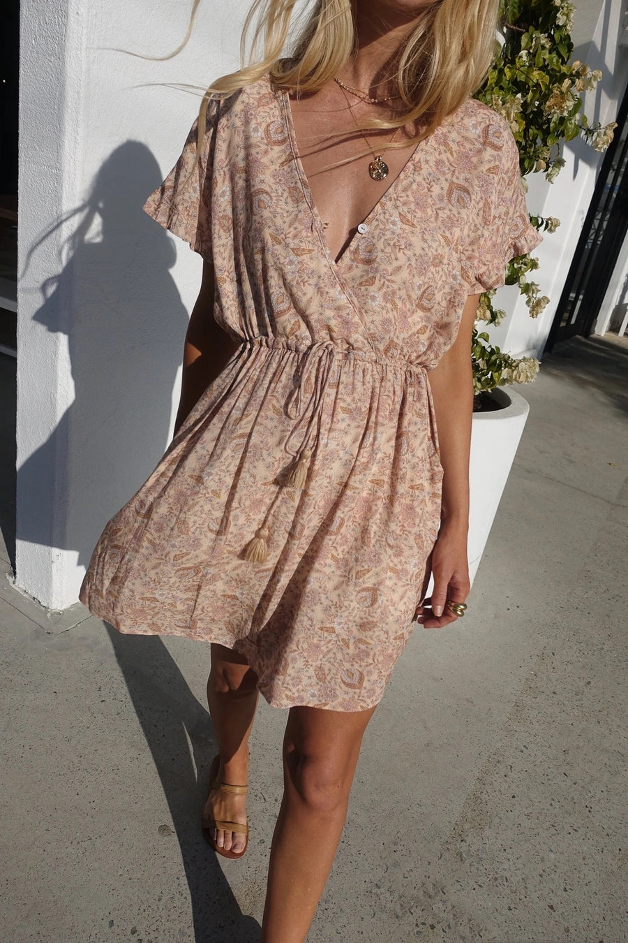 Sunlight Mini Dress - Rośe