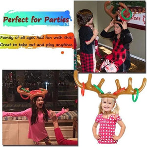 Reindeer Antler Ring Toss Game Engagshop