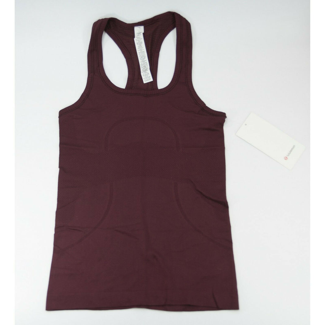 Lululemon Garnet Swiftly Tech Racerback Athletica Tank Top Sz 6 NWT