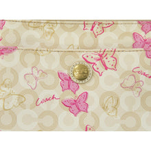 Load image into Gallery viewer, Coach Waverly Light Khaki Pink Butterfly Swingpack Crossbody Bag 47631 EUC