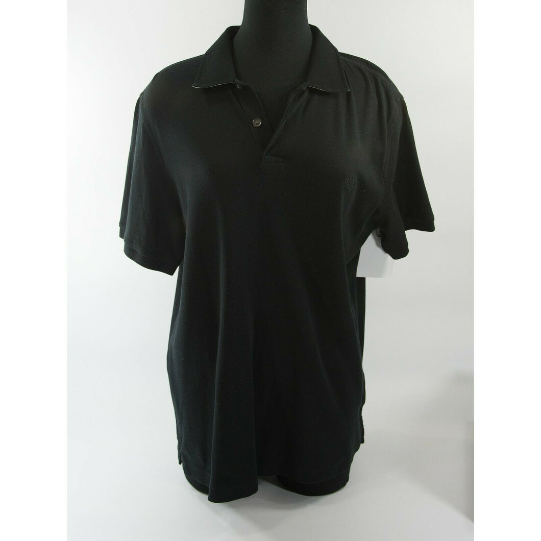 Burberry Black Knit Polo Cotton Shirt XL EUC