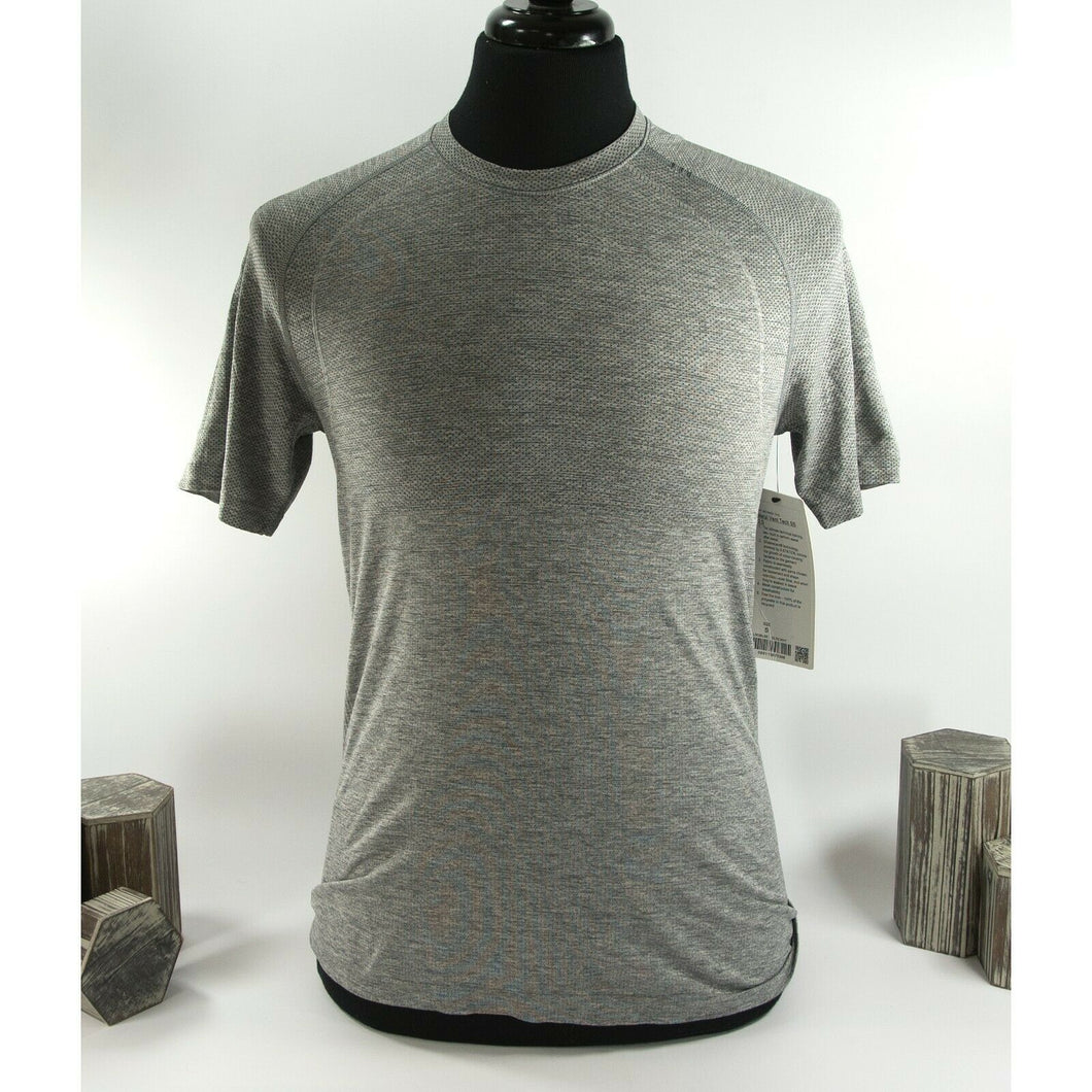 Lululemon Mens Grey Metal Vent Tech Short Sleeve Fitted T-shirt XS NWT