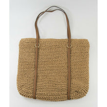 Load image into Gallery viewer, Ralph Lauren Crochet Straw Large Shopper Tote Bag EUC