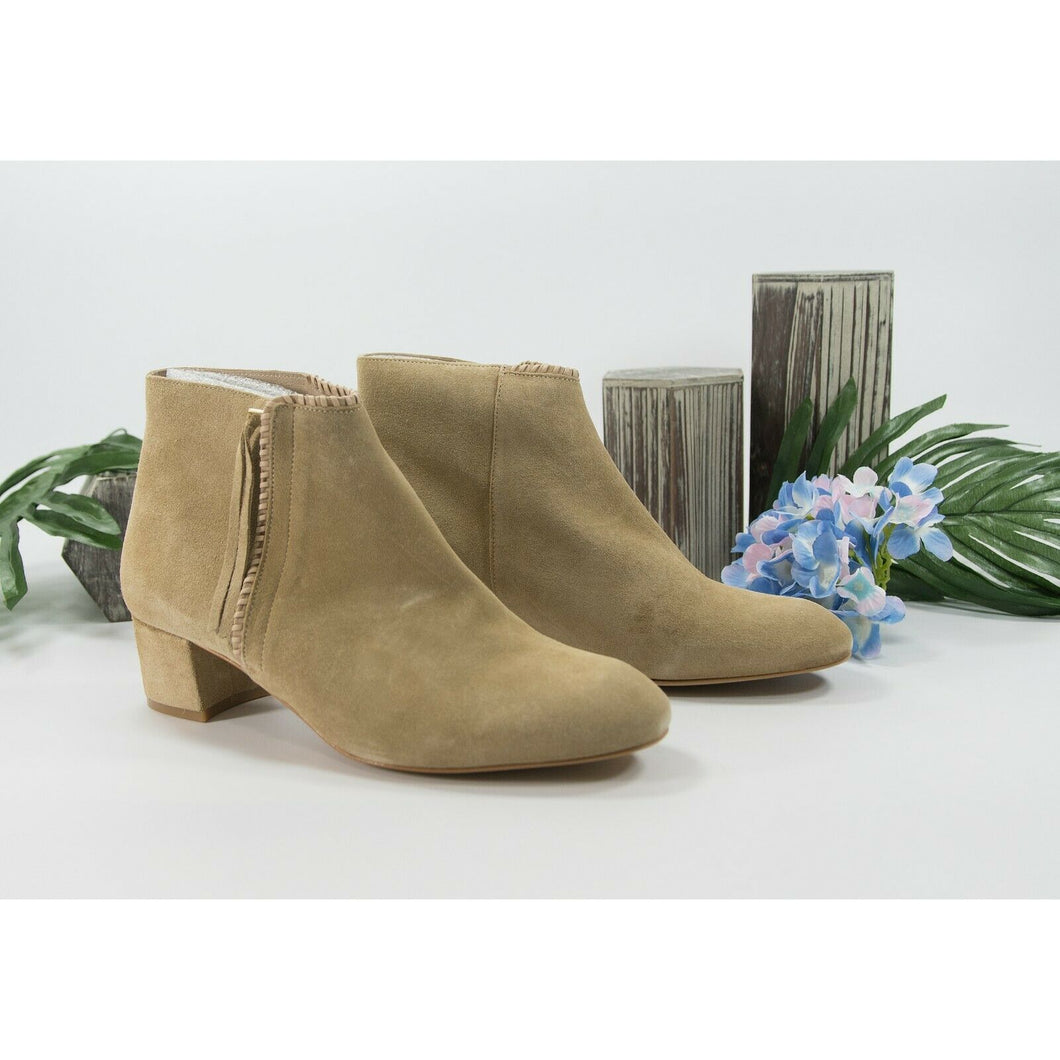 Maje Camel Suede Felicia Bootie Ankle Boot Shoes Sz 39 9