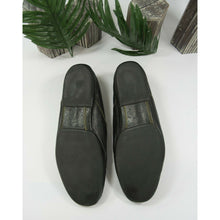 Load image into Gallery viewer, Michael Toschi Black Italian Leather Moccasin Loafer Shoes Size 14