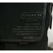 Load image into Gallery viewer, Coach Mens Black Canvas Leather Messenger Computer Bag 70587 EUC